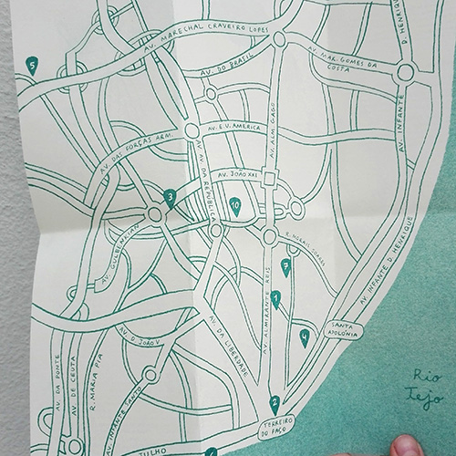 Map For Crying Travellers - Lisbon